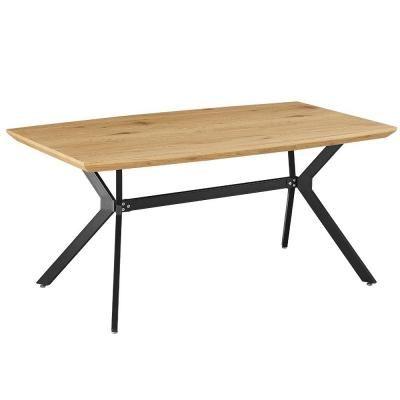 Étkezőasztal, 160x90 cm, tölgy-fekete - BOSTON